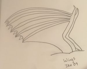 Unshaded dragon wing