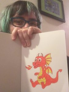 Me with a really cute, complete dragon