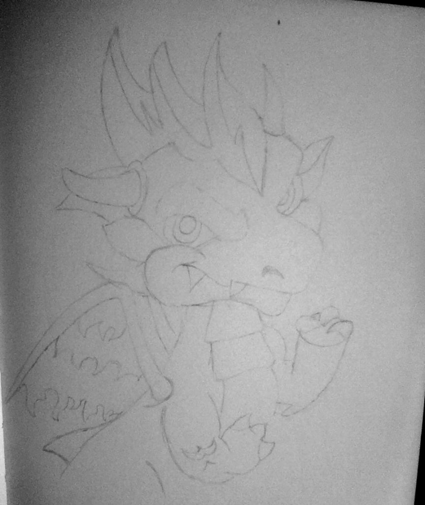 Sitting in bed, and all manner of frivolities: Drawing Dragons Day 31