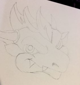 Sketch of dragon head