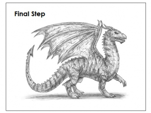 Full shaded dragon from http://how2drawanimals.com/8-animals/53-draw-dragon.html?start=4