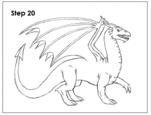 Outline of dragon from http://how2drawanimals.com/8-animals/53-draw-dragon.html?start=4