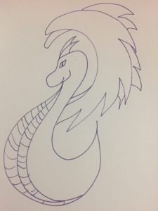 Roly Poly Dragon in purple