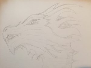 Finding a dragon: Drawing Dragons Day 89