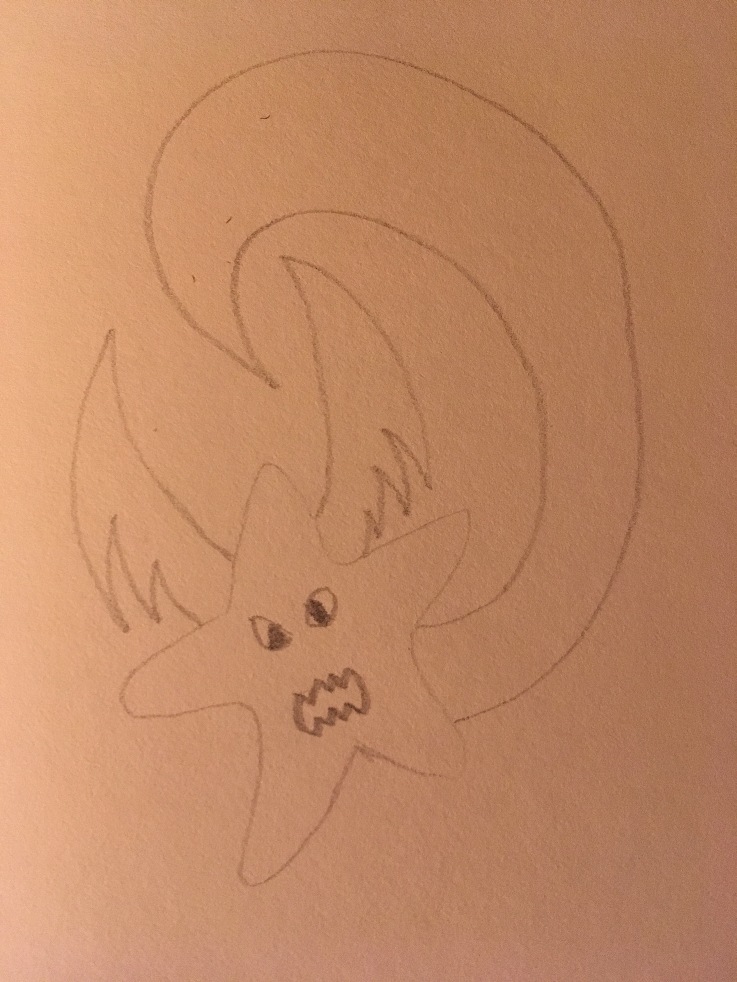 Star dragon in pencil rawr