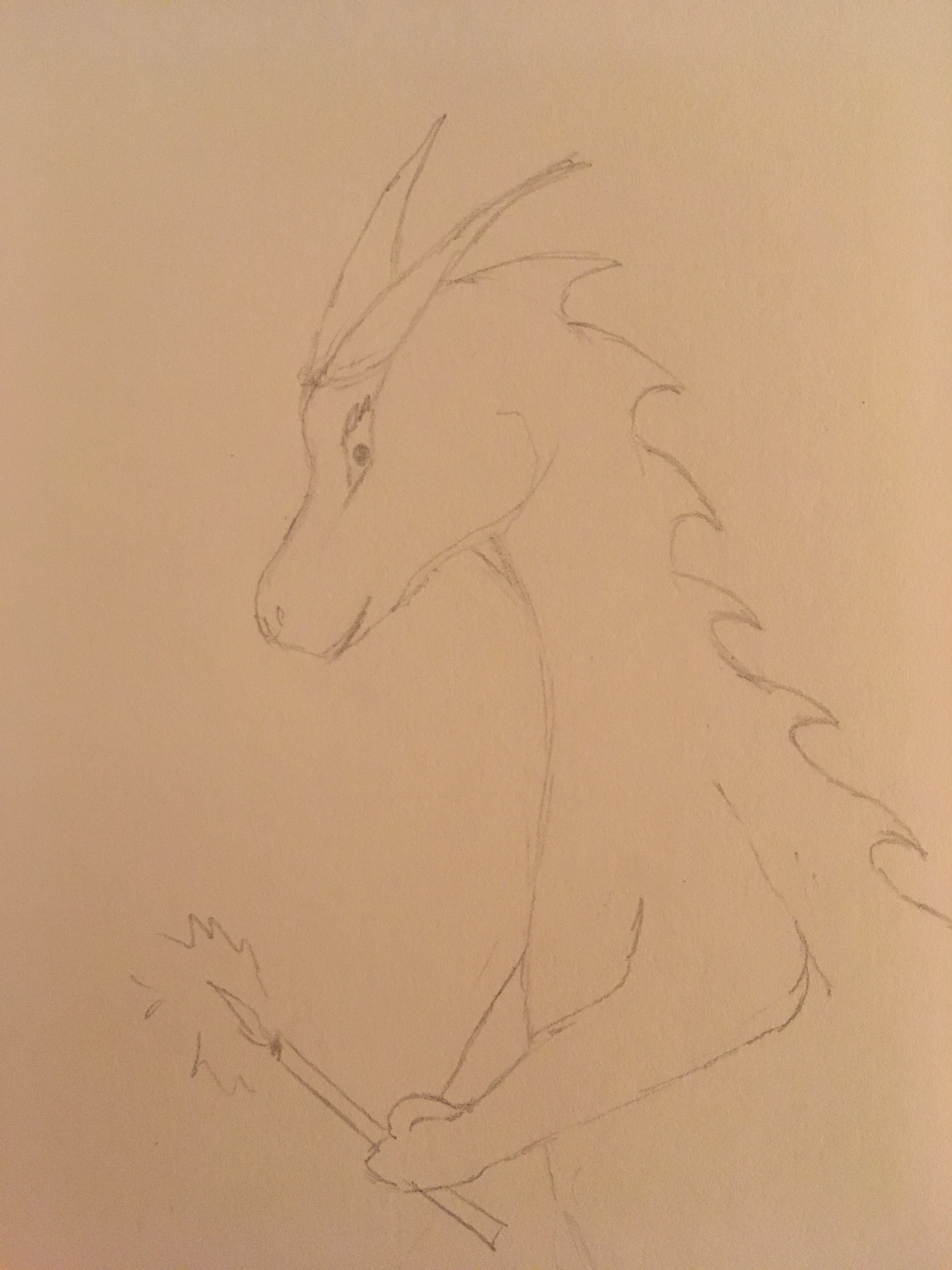 Dragon holding a candle