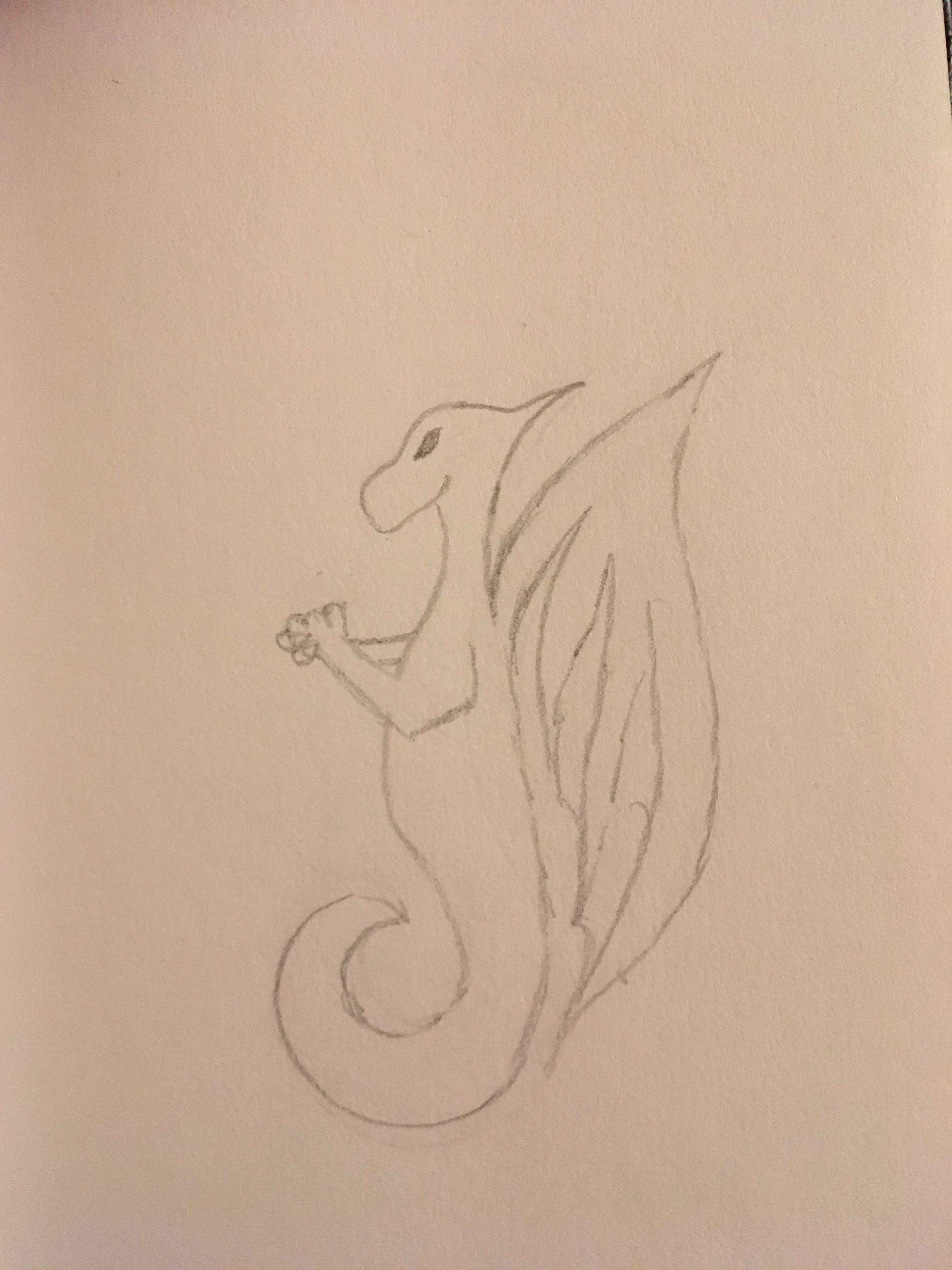 Water dragon with fingers crossed and eyes slit