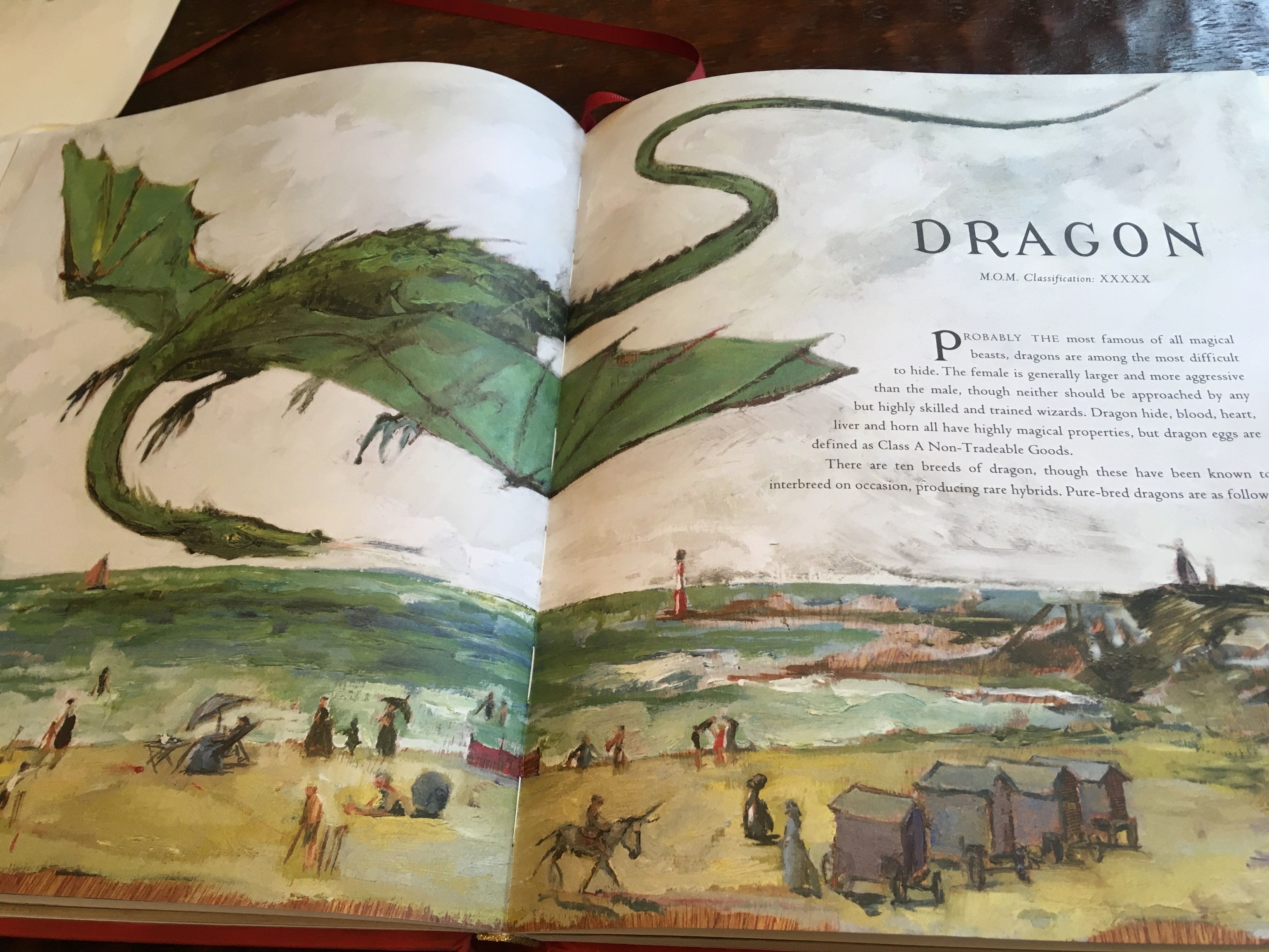 Dragon in watercolor from fantastic beasts and where to find them