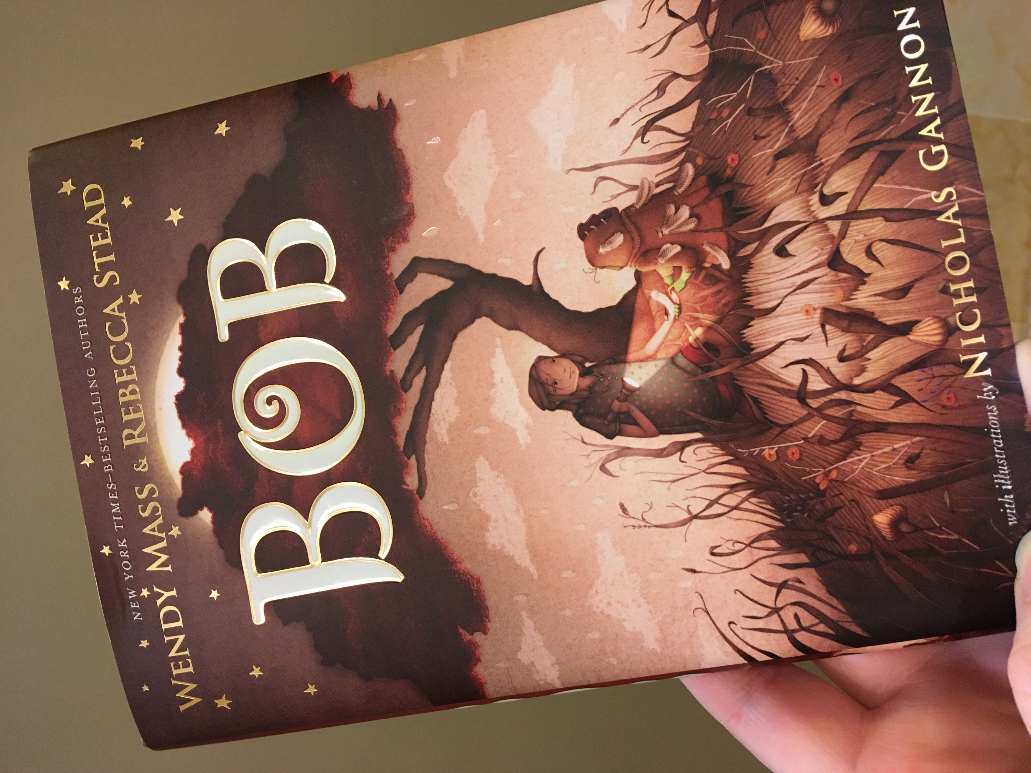 Bob book cover - with girl and little creature under tree