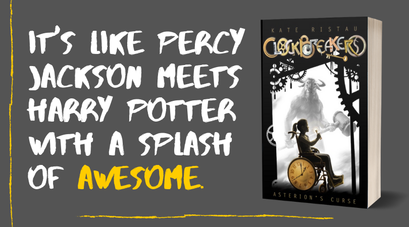 It's like percy jackson meets harry potter with a splash of awesome